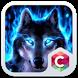 Wolf Blue Flames Theme Meizu by Pop Locker Team - Hide Secret App