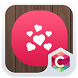 Romantic Red Heart Love Theme by C Launcher Themes