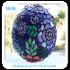 Fabulous Styrofoam Glass Mosaic Spheres by Orb Studio
