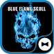 Cool Wallpaper Blue Flame Skull Theme by +HOME by Ateam