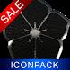 Black E. HD Icon Pack by Maystarwerk Clocks & Themes Vol.1