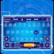 blue digital future keyboard power time machine by Keyboard Theme Factory