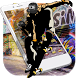 Skateboarding graffiti hip hop by Theme and keyboard design team