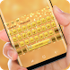 Gold Glitter Diamond Keyboard Theme by Sexy Theme for Smart Phone