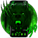 3d Green Neon Bear Theme by no.1 3D Theme