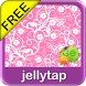 Cute Pink Flowers Go SMS Theme by Jellytap