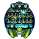 alien ufo keyboard space green by Keyboard Theme Factory