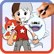 How to draw Yo-kai Watch by Drawings Apps
