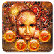 Golden Megec Mask Theme Golden Red Wallpaper by Beauty theme