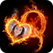 Fire Text Photo Frame by PMB Solution