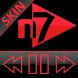 SKIN N7PLAYER DARK GLASS ROJO by Tak Team Studio