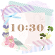 Cute and girly Clock Widget by SWEET Style