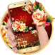 Luxury Rose Petal Keyboard Theme by cool wallpaper