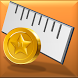 Screen Ruler - Coin Calibrated by QL Software Lab
