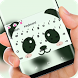 Cute Panda Face Keyboard Theme by Super Hot Themes Design Studio