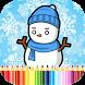 Snowman Coloring Frozen Winter by Coloring Kids Studio