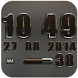 Digi Clock Widget Brown Elepla by Maystarwerk Clocks & Themes Vol.1