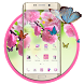 Pink cherry butterfly wallpaper theme