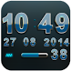 Digi Clock Widget Lightblue St by Maystarwerk Clocks & Themes Vol.1