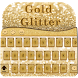 Gold Glitter Theme by Super Keyboard Theme