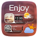 Enjoy GO Weather Widget Theme by GOMO Go