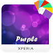 Purple Xperia Theme by Tosh.y