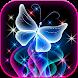 Neon Butterfly Glitter Live Wallpaper App