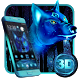 3D Ice wolf Theme by HD Themes and Wallpaper