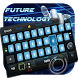 touch future ai blue robot geek theme keyboard by Keyboard Theme Factory