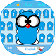 Pure Blue Cute Peanut Baby Animal Keyboard Theme