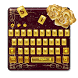 Gold Rose Blush Keyboard and live wallpaper by creative 3D Themes