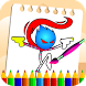 Stickman Hero Coloring Book Pages Draw and Paint
