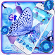 Blue Flower Butterfly Theme by Launcher Fantasy