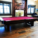 Log Pool Table Rustic Billiard by Generation Mobile