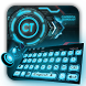 Blue 3D Tech Keyboard by Echo Keyboard Theme