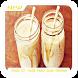Simple DIY Vanilla Peanut Butter Milkshake by Handmade Studio
