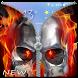 Fire Skull Zipper Lockscreen: Skull Lockscreen by FunnyGalaxy-BestAppsGames Corp