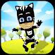 Super black pj catboy hero Mask