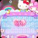 Rainbow kawaii kitten keyboard Pink keyboard