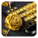 Golden Rose Keyboard by Cool Theme Studio