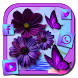 Purple Charming Flower Rose Theme by Launcher Fantasy