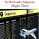Netherlands Airports Flight Time by AsoftTechnology