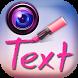 Photo Studio Text on Pics by Thalia Spiele und Anwendungen
