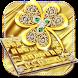 Gold Diamond Leaf Keyboard