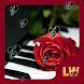 Elegant violin rose background