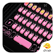 Pink Bow Knot Gifs Keyboard by Eva Awesome Theme