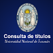 Consulta de Titulos UNT by Jorge Barros