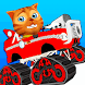 Cat Race Car Snow Stunts Gold by Wonderful Games AG