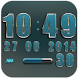 Digi Clock Widget Lightblue El