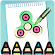 Fidget Spinner Coloring Book Pages Pro by RiyaApps